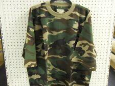 Camo SS T-Shirt Waffle Knit Big Mens TEE 4X WOODLAND