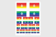 Quebec Pride LGBT Flag Weatherproof Sticker Sheet / Various Sizes