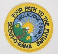 """Boy Scouts Patch '91 Wolverine Council Scout-O-Rama Your Path to the Future 3"""""""