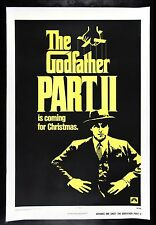 GODFATHER PART 2 * CineMasterpieces ORIGINAL CHRISTMAS ADVANCE MOVIE POSTER 1974