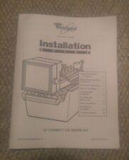 Whirlpool Freezer Ez Connect Ice Maker Refrigerator Cube Tray W10363267 Manual