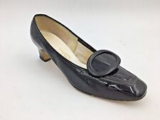Vintage 1940-50s Red Cross Shoes Brand size 5B Black Patent Leather Heels A12