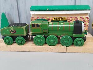 Thomas Wooden Railway Train Big City Engine BCE & Tender (read description)