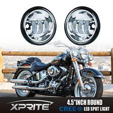 Chrome LED Auxiliary Spot Fog Light For Harley Davidson Motorcycle 4.5 Inch 2PCS