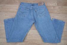 Jeans Levis 501 Da Uomo A Vita Alta Gamba Dritta W36 L32 blu slavato