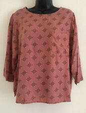 NEW Ex M&S Mulberry Pattern Print Scoop Neck Casual Formal Blouse Top Size 16-24
