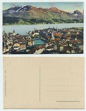 60950 - Luzern vom Gütsch aus - alte Ansichtskarte