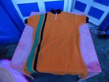 maillot de vélo vintage orange 74cm de long sur 47cm