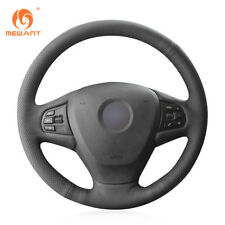 Genuine Leather Steering Wheel Cover for BMW F25 X3 2011-17 F15 X5 2014 #BM84