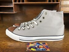 29a135d558de57 Converse Chuck Taylor All Star Spec Mens Leather Hi Top Grey Brown White  Size