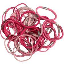 40 élastiques à cheveux roses diamètre 3,5cm - chouchou  pink elastic hair bands