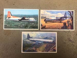 3 X TAA Trans Australia Airlines postcards