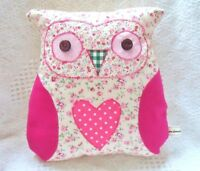 Owl Cushion Kit Patchwork Sewing Craft Kit Great Hand or Sewing Machine Project!