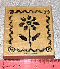 Daisy Flower Stamp Single in a Border Frame by Stampin Up Watercolor Fun