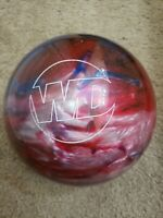 Columbia 300 WD Blue Red White Swirl Bowling Ball 8 lbs UnDrilled B016
