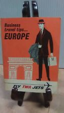 TWA  BUSINESS TRAVEL TIPS GUIDE to EUROPE (FC4-2)