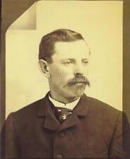 CABINET CARD PHOTO: Post Mortem MEMORIAL Dapper GENTLEMAN with MUSTACHE & GOATEE