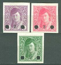 BOSNIA AND HERZEGOVINA 1919 - Newspaper issue IMPERF. MI. 27/29 MH SET CV300$