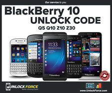 Telus Koodo Blackberry Unlock Code  BB10 Q5 Q10 Z10 Z30 Classic Passport