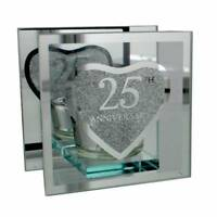25th Silver Wedding Anniversary Tea Light Holder Gift WG56025