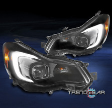 For 12-15 Subaru Impreza/13-16 XV Crosstrek LED Tube Projector Headlights Black