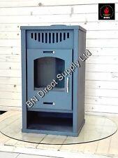 Poêle à bois Delux B élégant 7 + 10 kW brûleur Foyer arrière chaudière eau