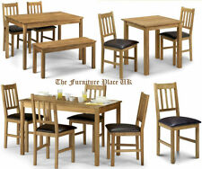 Julian Bowen Solid Wood Contemporary Table & Chair Sets