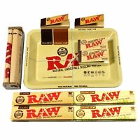 King Size Combo Mini Tray +Row Papers +Tips + Rolling Machine for Authentic RAW