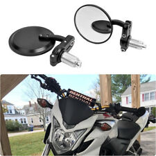 "Black Round Motorcycle Custom 7/8"" Handle Bar End Side Mirrors For Honda CB500F"