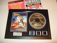 BACK TO THE FUTURE   SIGNED   FILM CELL FRAMED+ ALMANAC  68