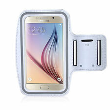 S6/S6 Edge/HTC M9 White Jogging, Running Armband Case