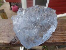 Glass Rock Slag Clear Sapphire Blue Bubbles 6.14 lbs Uu91 Landscaping Aquarium
