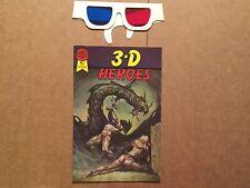 3-D Heroes Comic Book #1 Blackthorne 3-D Series #3 1986 *NEAR MINT* **W/Glasses*