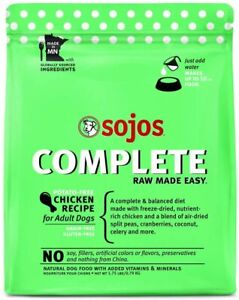 SOJOS Complete Freeze-Dried Chicken Grain-Free Raw Dog Food, 1.75 Pounds