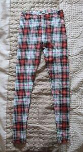 Topshop Women's Tartan Print Leggings Size 10