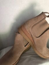Derek Lam 10 Crosby Ankle Boots Size 8M Beige Suede