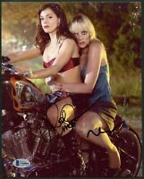 PLANET TERROR ROSE McGOWAN & MARLEY SHELTON DUAL SIGNED 8X10 PHOTO BAS COA