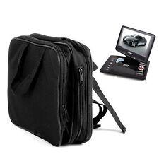 "Black 9.5"" Portable DVD Player Case Carry Bag Strap Car Headrest Mount Movies"
