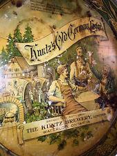 Kuntz's Old German Lager Early Beer Tray Kuntz Brewery Ltd Waterloo Ont Canada