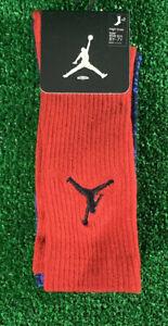 Nike Air Jordan Kids High Crew Socks Red Blue 5Y-7Y 2 Pack