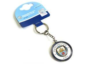 Manchester City Football Club Crest Car Keyring Key Ring Official Man Utd MUFC