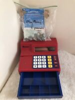 Learning Resources red child's calculator cash register Play Money Shop