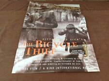 1990's Kino Release of The Bicycle Thief Original Movie House Full Sheet Poster