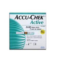 Accu Chek Active Test Strips Blood Medical 50 Sheets Diabetic Check Roche Lancet