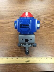3 Way Parker Stainless Steel Ball Valve with Actuator - 6Z-B6XLJ-S-51ACX