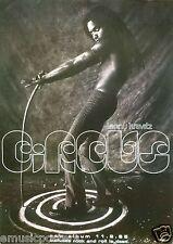 """Lenny Kravitz """"Circus"""" U.K. Promo Poster - Lenny without Shirt Holding Cane!"""