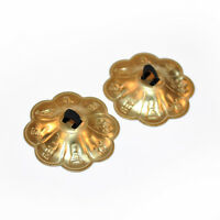 1 Pair(2 piece)Belly Dance pure copper Finger Cymbals Zills Gold & Silver