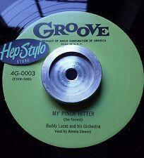 BUDDY LUCAS RE 45 - MY PINCH HITTER / I GOT DRUNK - GREAT GROOVE 50s R&B