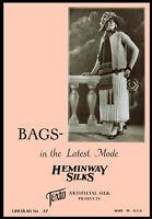 Heminway Bags #37 c.1920 Vintage Purse Patterns in Crochet - Knitting - Beading