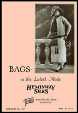 Heminway Bags #37 c.1920 Vintage Purse Patterns in Crochet - Knitting - Beading
